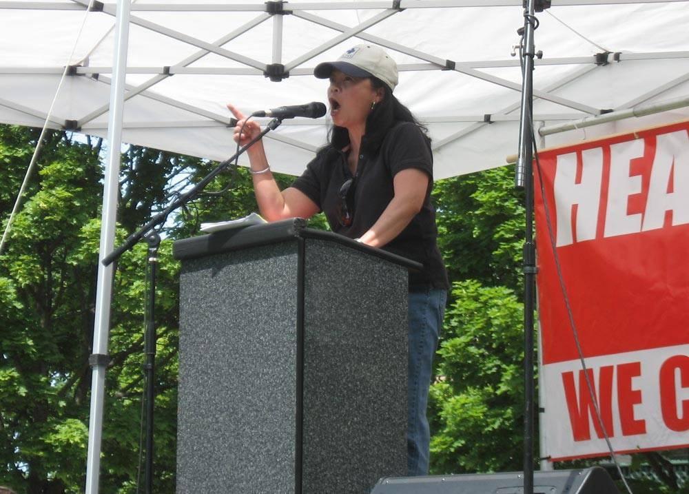 Batayola during one of her many public speaking engagements