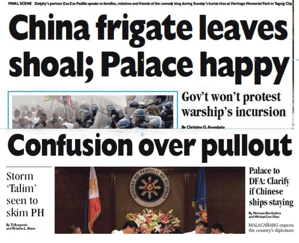 PDI banner headlines during the crisis and how it was spun