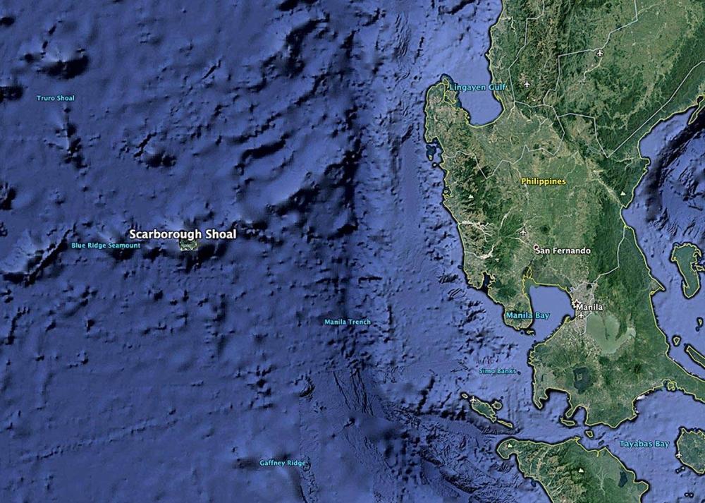 Bajo de Masinloc: So close yet so far now MAP BY AUTHOR USING GOOGLE EARTH