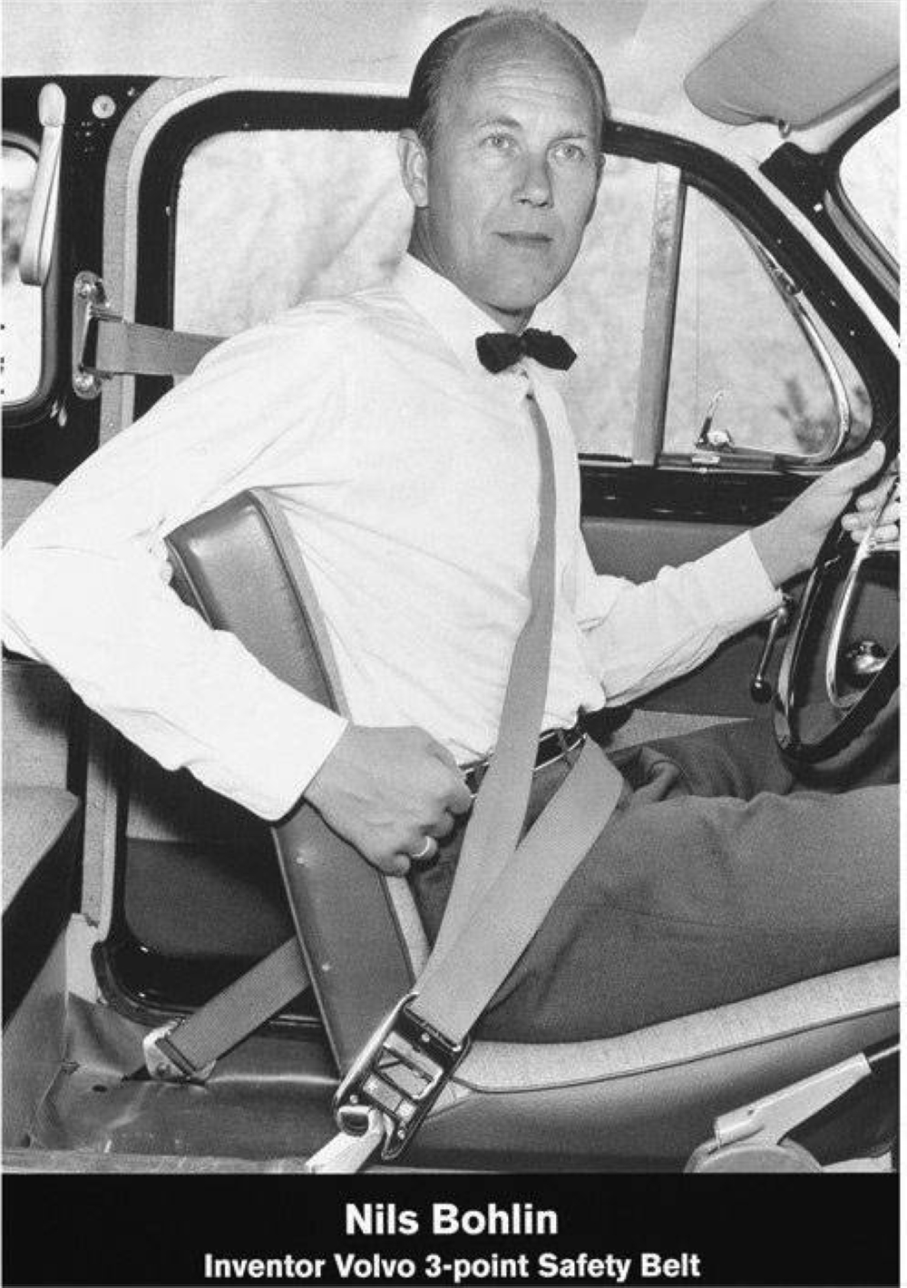 Nils Bohlin invented the three-point seatbelt back in 1959. PHOTO: VOLVO CAR GROUP