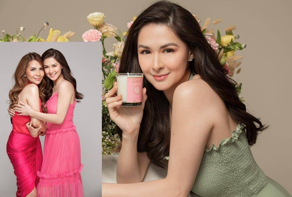 For the fourth straight year, Marian Rivera thrives as brand ambassador of Reverie by Beautéderm Home, in collaboration with company president and CEO, Rhea Anicoche-Tan (inset photo)