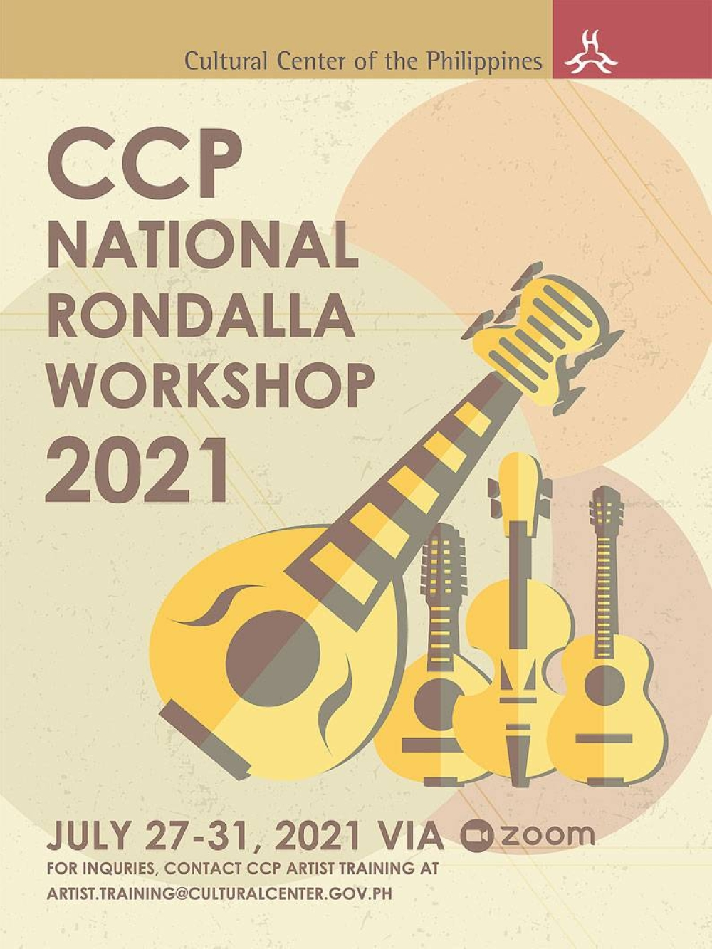 Valuing the contribution of rondalla music, CCP continues to come up with programs to further this genre, such as the upcoming CCP National Rondalla Workshop
