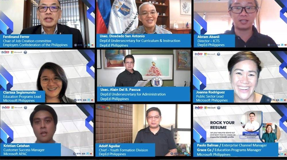 Over 260,000 learners and teachers participated in the virtual event, where they were taught how to build impactful online resumes for LinkedIn and maximize the full features of the platform to connect effectively with industry practitioners. MICROSOFT PHOTO