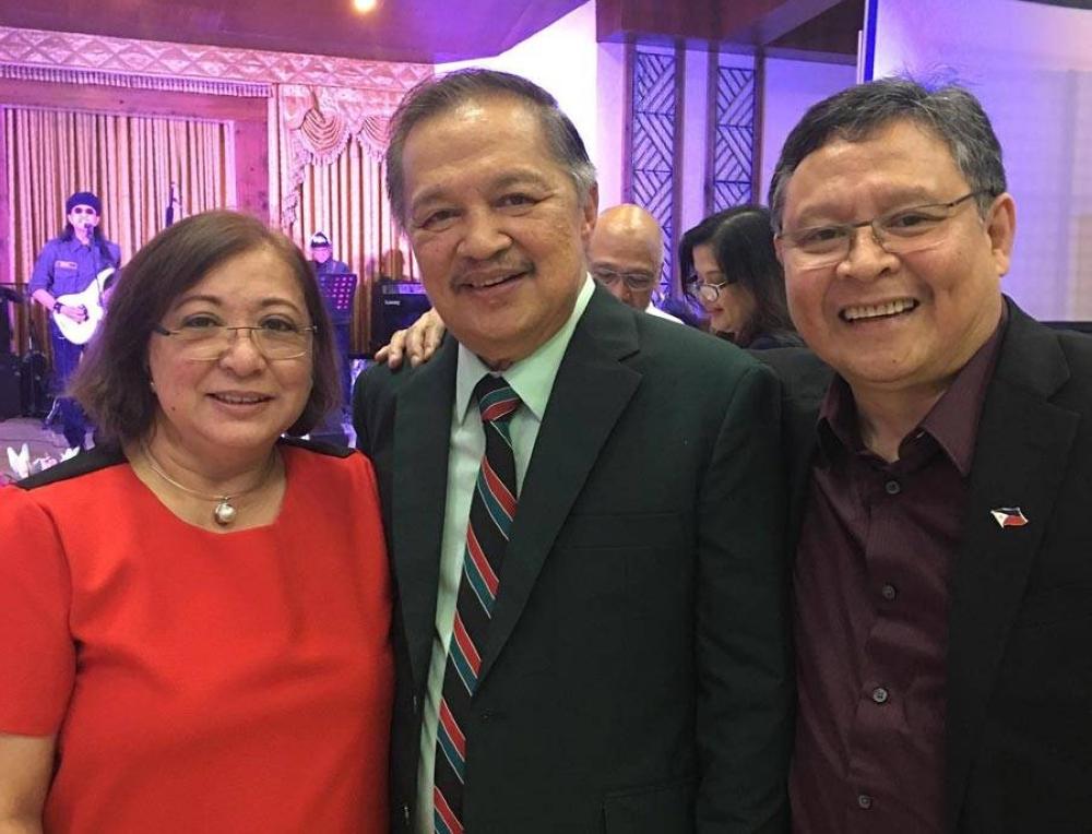 L to R: Mrs. Jo Alonto, CFO Sec. Nick Acosta, and the Ambassador