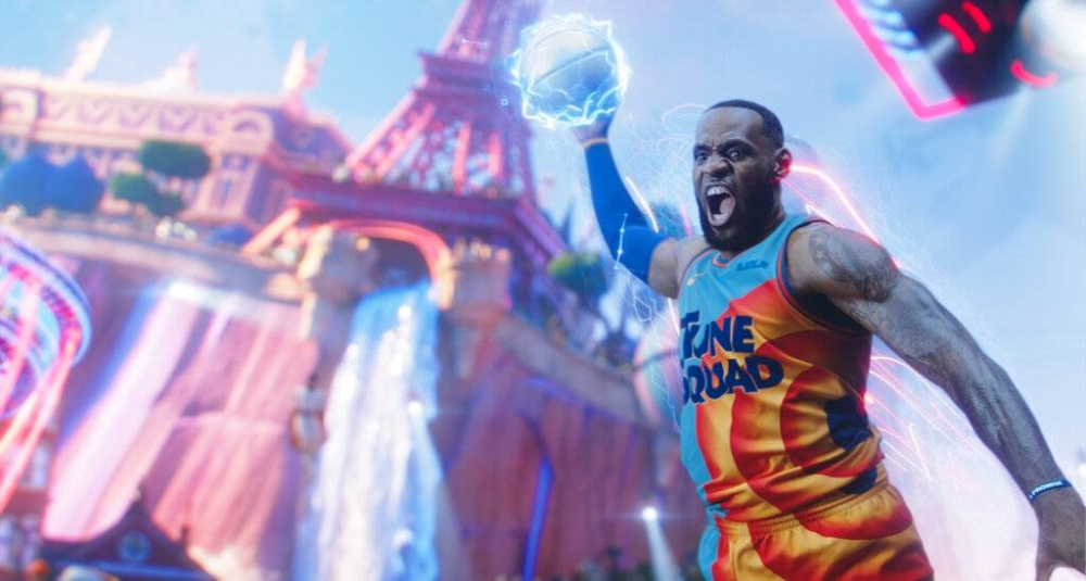 Lebron James in a scene from 'Space Jam: A New Legacy.' AP PHOTO