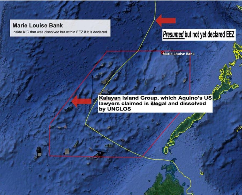 Where the Chinese ship was ordered out by the Philippine Coast Guard BY AUTHOR USING GOOGLE EARTH PRO
