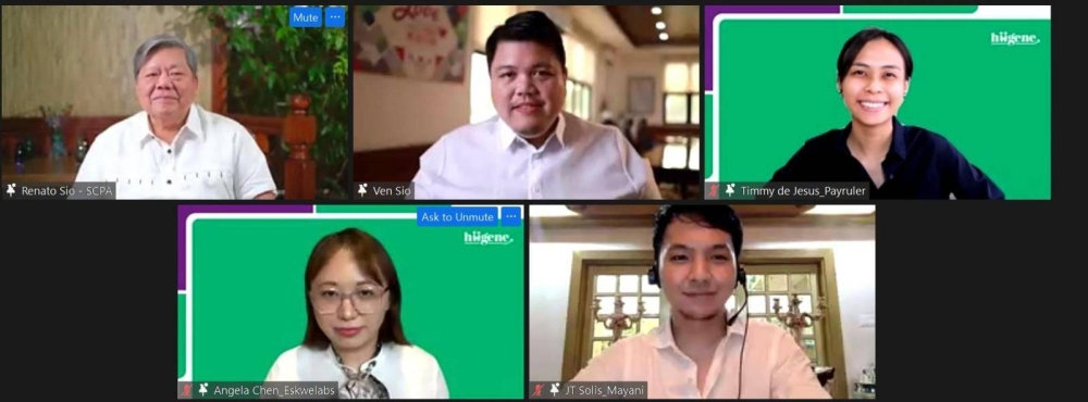 (Clockwise from top left) SCPA Chairman and Founder Renato Sio, SCPA President and CEO Ven Sio, Payruler Co-Founder and COO Timmy De Jesus, Eskwelabs Co-Founder and CEO Angela Chen and Mayani Co-Founder and CEO JT Solis.
