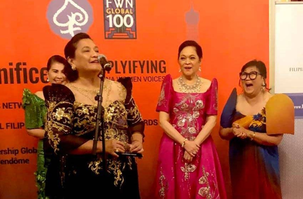 As an awardee of the Filipina Women's Network's (FWN) Most Influential Woman in the World, Founder and Pioneer Category held in Paris, France in 2019. CONTRIBUTED PHOTO S