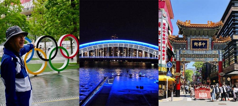 (From left) From a virtual tour of the major Tokyo 2020 stadiums to a river cruise ride along the Tokyo waterfront and a night walk at the magnificent Yokohama Bay area, netizens can uniquely experience how cities across Japan are playing host to the games.