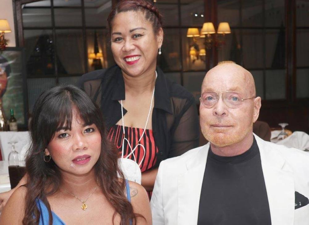 Cheryl Romagea, Lyn de Guzman and Dr. John Romagea