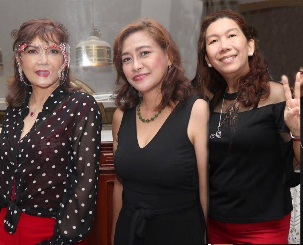 Jean Saburit, Lilybeth Garcia and Jinky Rabano