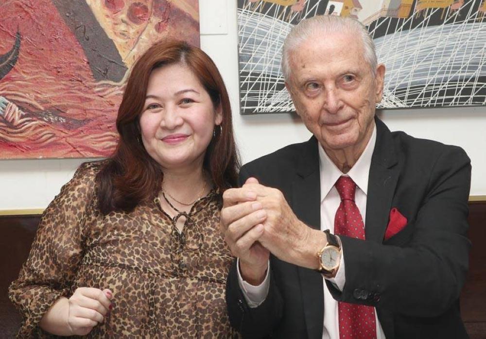 Jackie Lim-Gonzaga and Emilio Mina