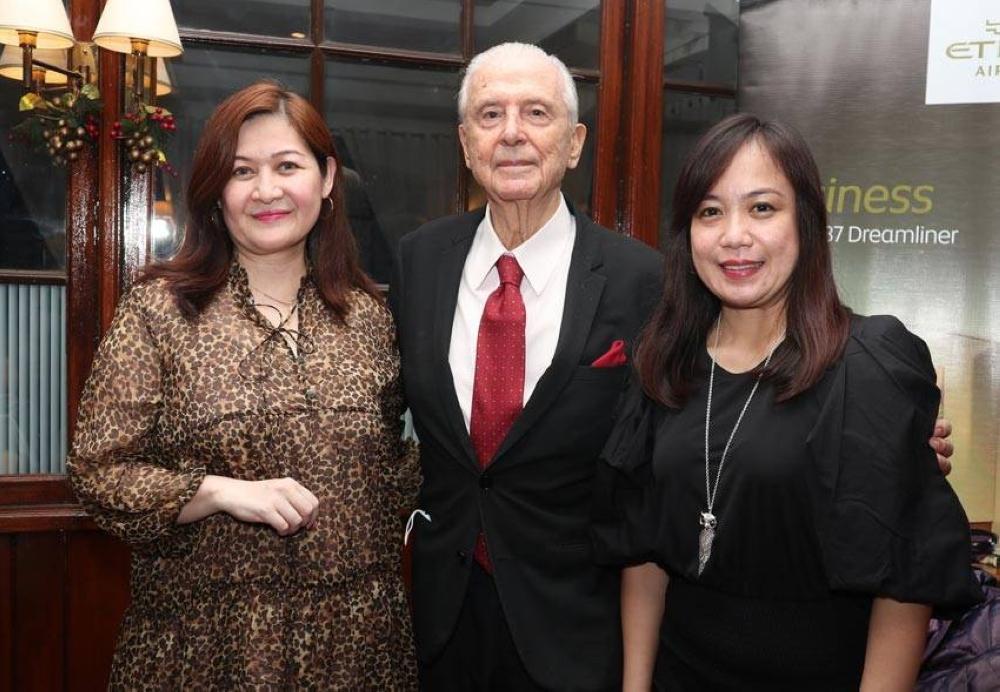 Jackie Lim-Gonzaga, Emilio Mina and Chona Borrel