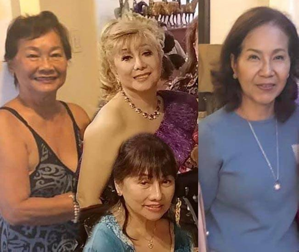 Chita Wilcox, (seated) Remy Besinga, Connie Guanzon-Garcia and Ellen Choi