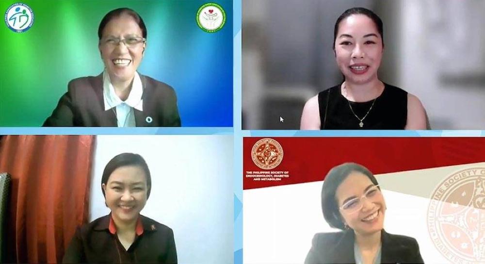 Dr. Aouie Macaballug, Leyden Florido, Nellie Calipjo, and Dr. Noreen Trinidad kick off MSD's 'Kontrolado ko, Diabetes ko' campaign.