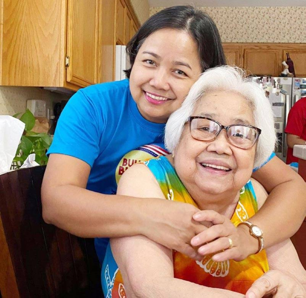 Rhia Luz with her heroine—her mother