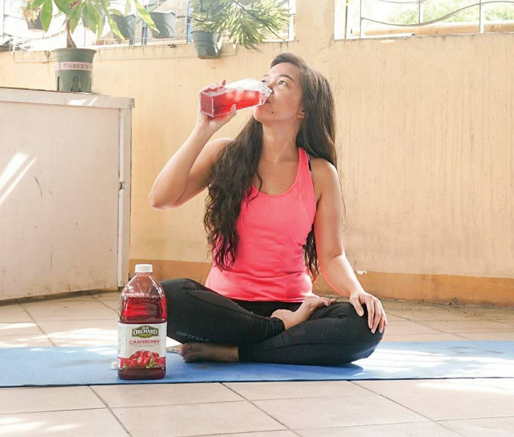 Five to 10 minutes before exercise, drink cranberry juice for an instant energy boost.