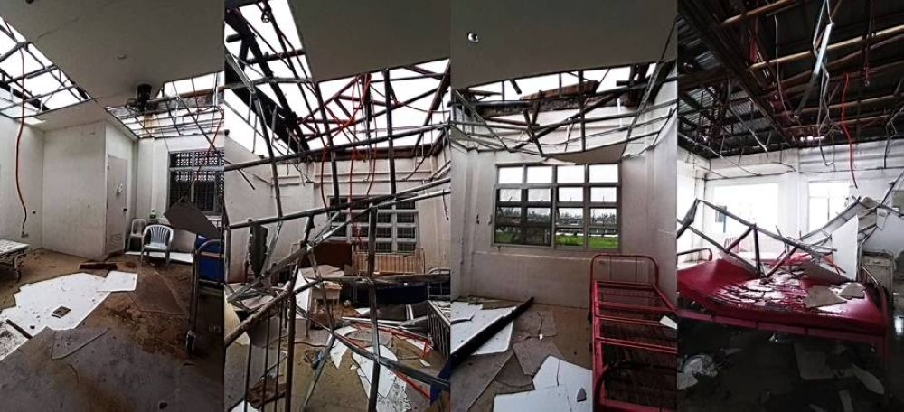 The damaged roof of Ziga Memorial Hospital has not been repaired after it was destroyed by previous typhoons that hit Albay.