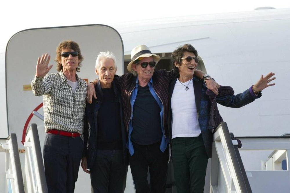 Mga miyembro ng The Rolling Stones: Mick Jagger, Charlie Watts, Keith Richards at Ron Wood AP PHOTO