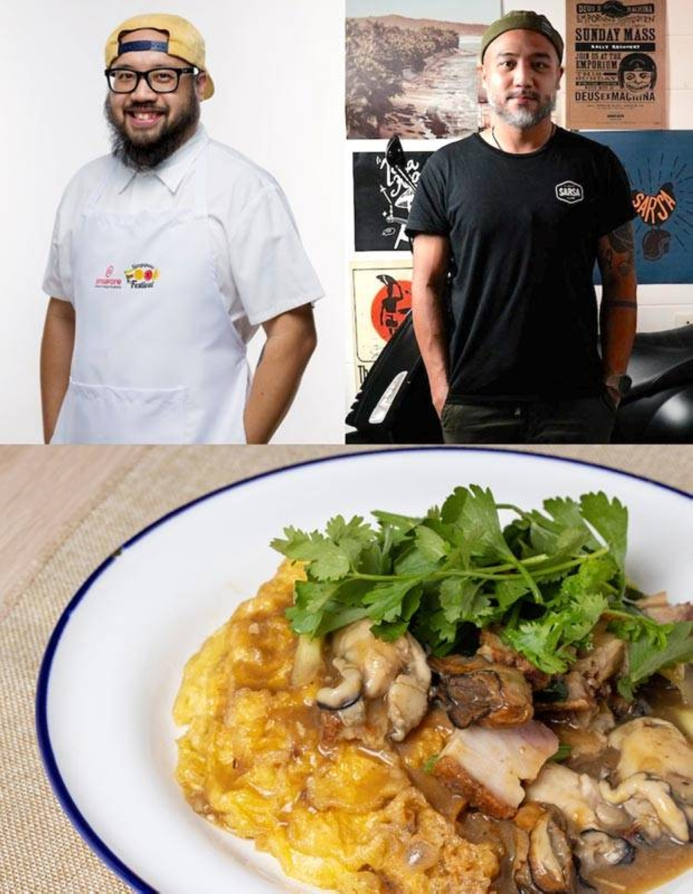 Chef JP Anglo and Bjorn Shen will have their own take on cooking Singapore's Oyster Omelette in a special virtual masterclass.