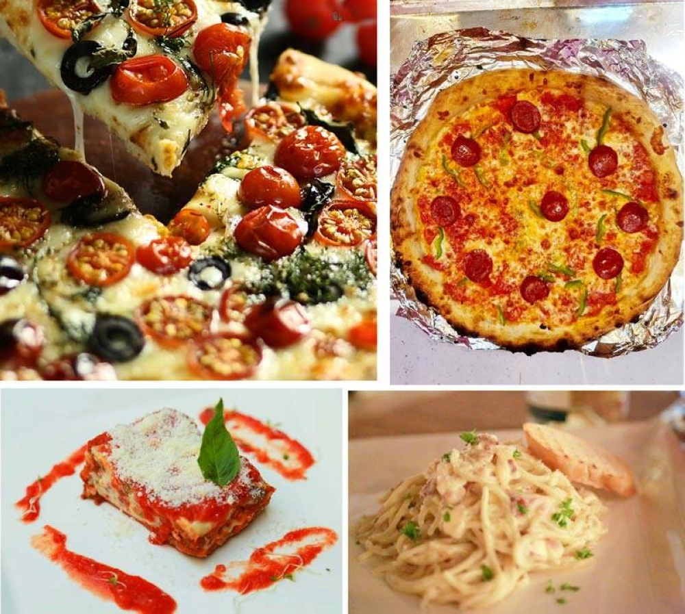 The food joint offers vegetarian pizza, pepperoni pizza, lasagna and carbonara