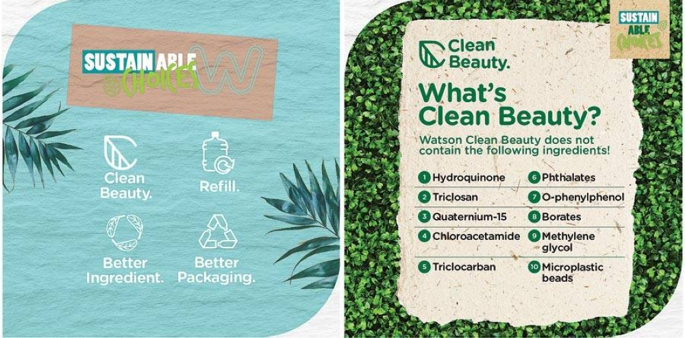 The Watsons Sustainability program pledges to help the environment and the community through offering more sustainable choices in stores.