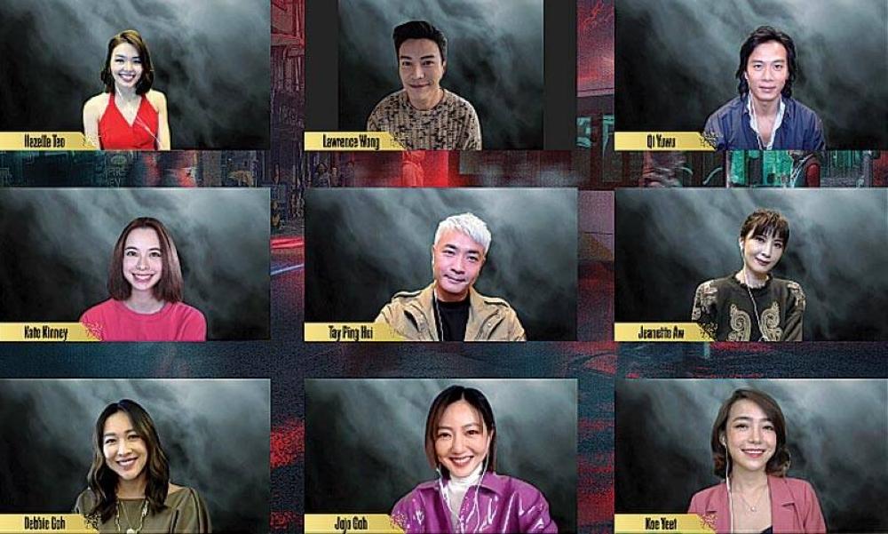 Ang cast ng 'The Ferryman: Legends of Nanyang' sa isang pag-uusap sa virtual media conference tungkol sa streaming sa unang serye ng orihinal na Timog Silangang Asya na iQiyi.
