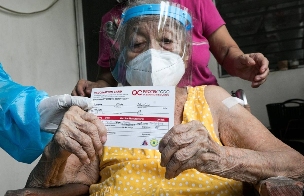 Vaccinated elderly could get severe Covid19