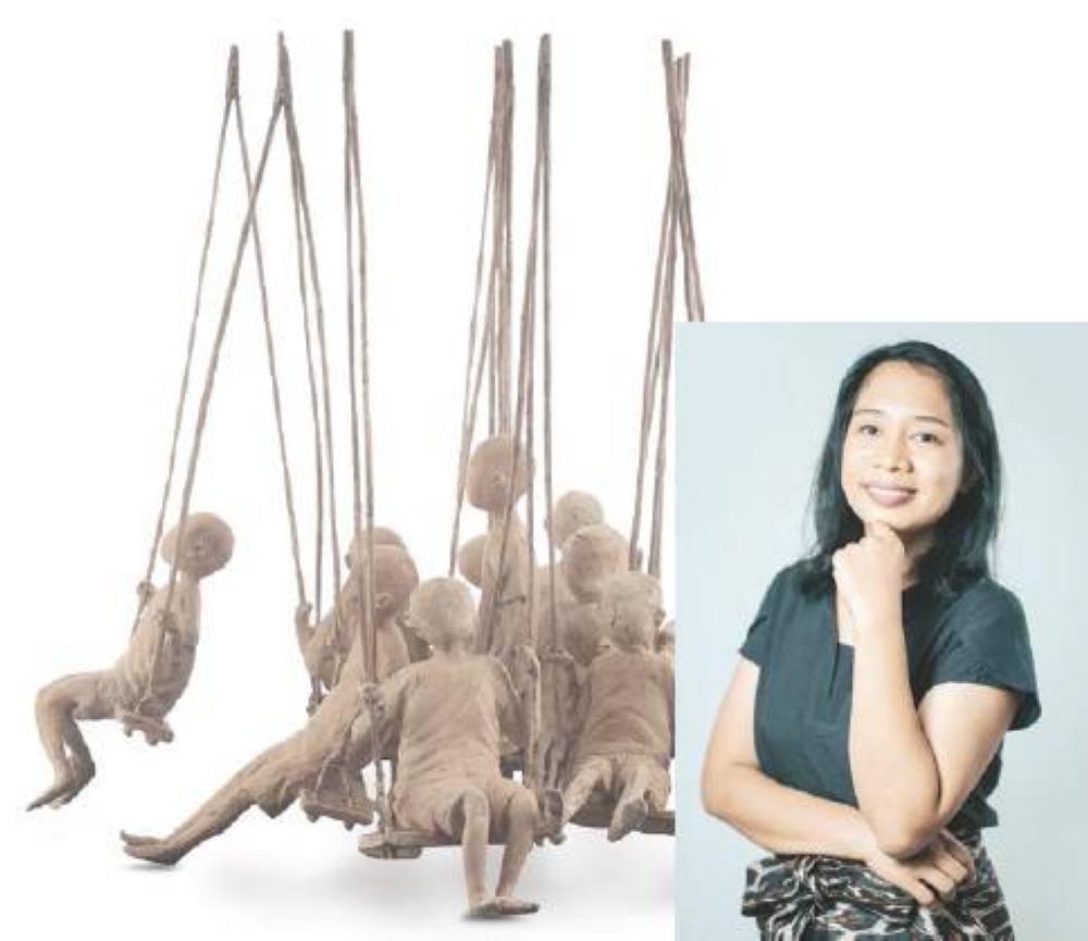 'Bungkag' by Kathleen Dagum (inset), sculpture recognition program grand awardee