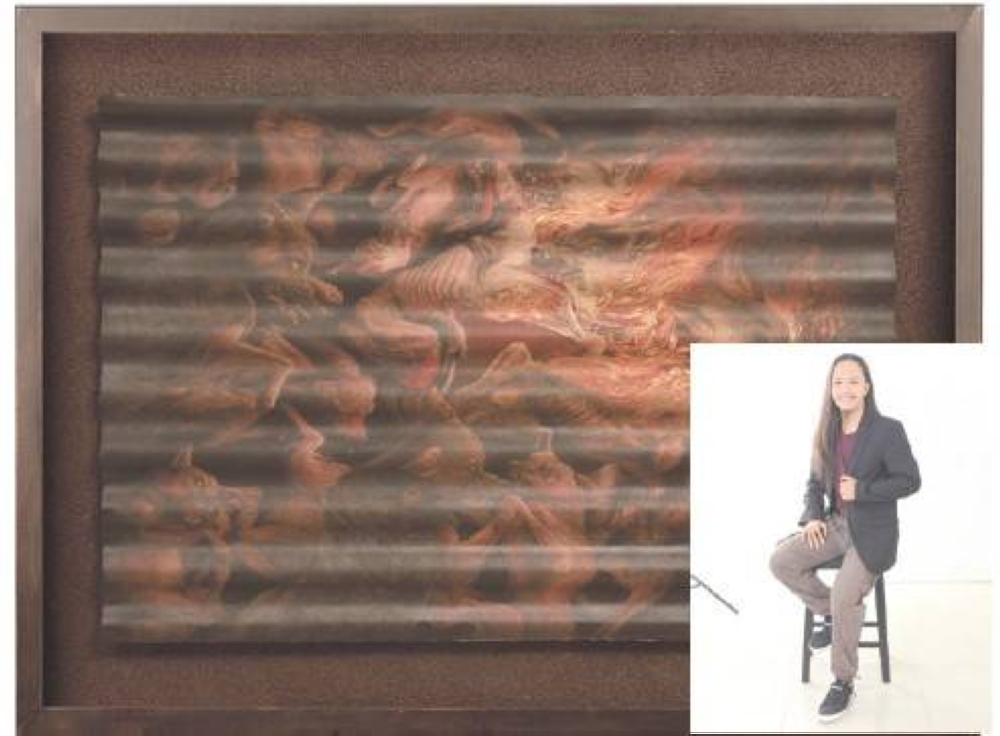 'Haunting Wail of Chaos' by Lymuel Bautista (inset), water media on paper category grand awardee