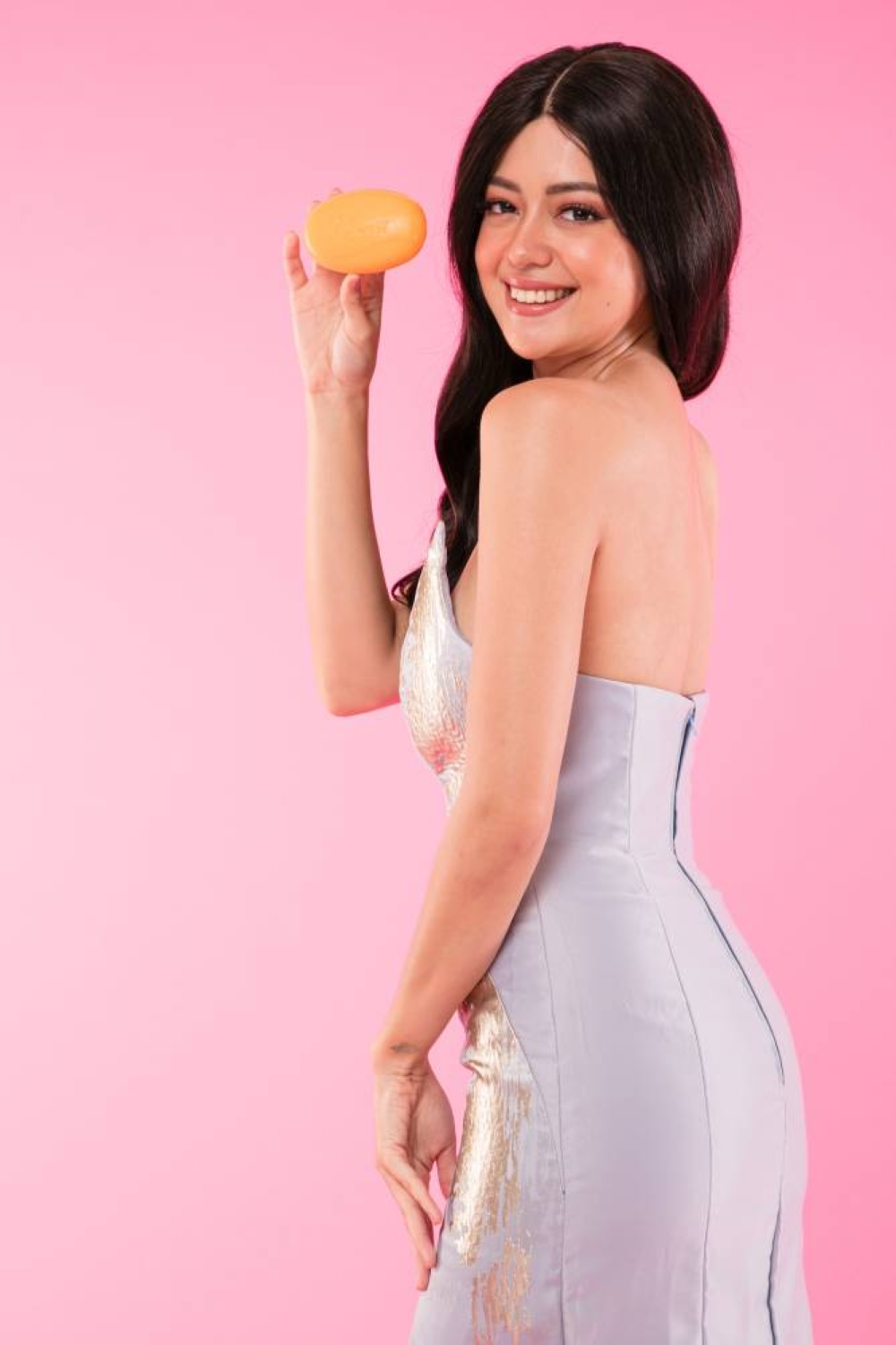 Actress Sue Ramirez swears this little but mighty whitening soap gets the job done.