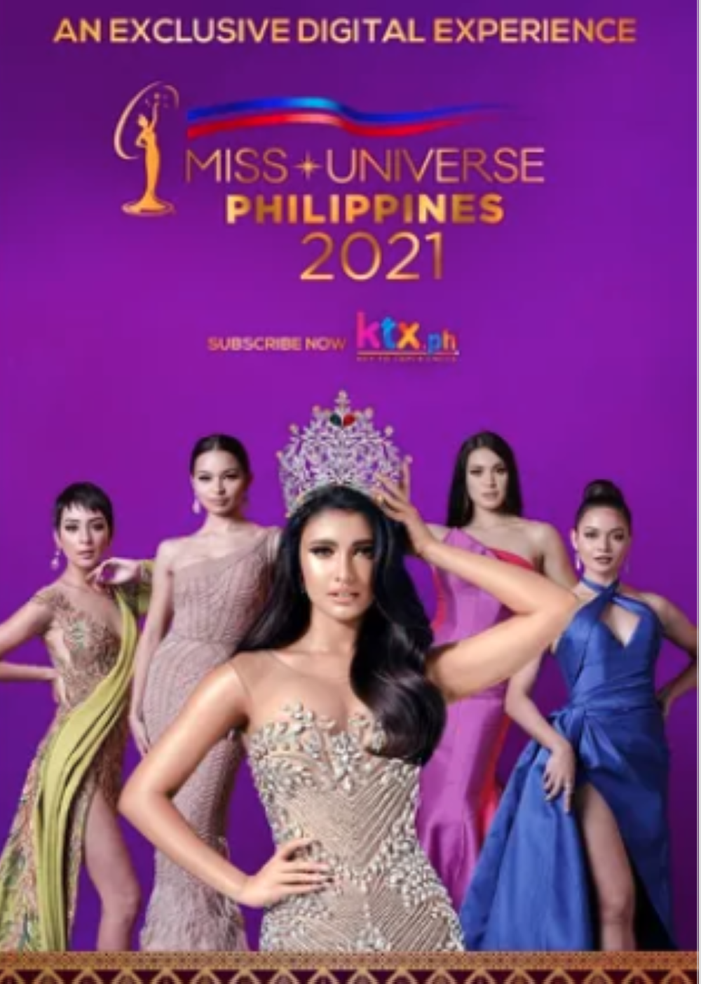 Si Rabiya Mateo (gitna) ay nakatakdang korona ang kanyang kahalili sa Miss Universe Philippines ngayong gabi.