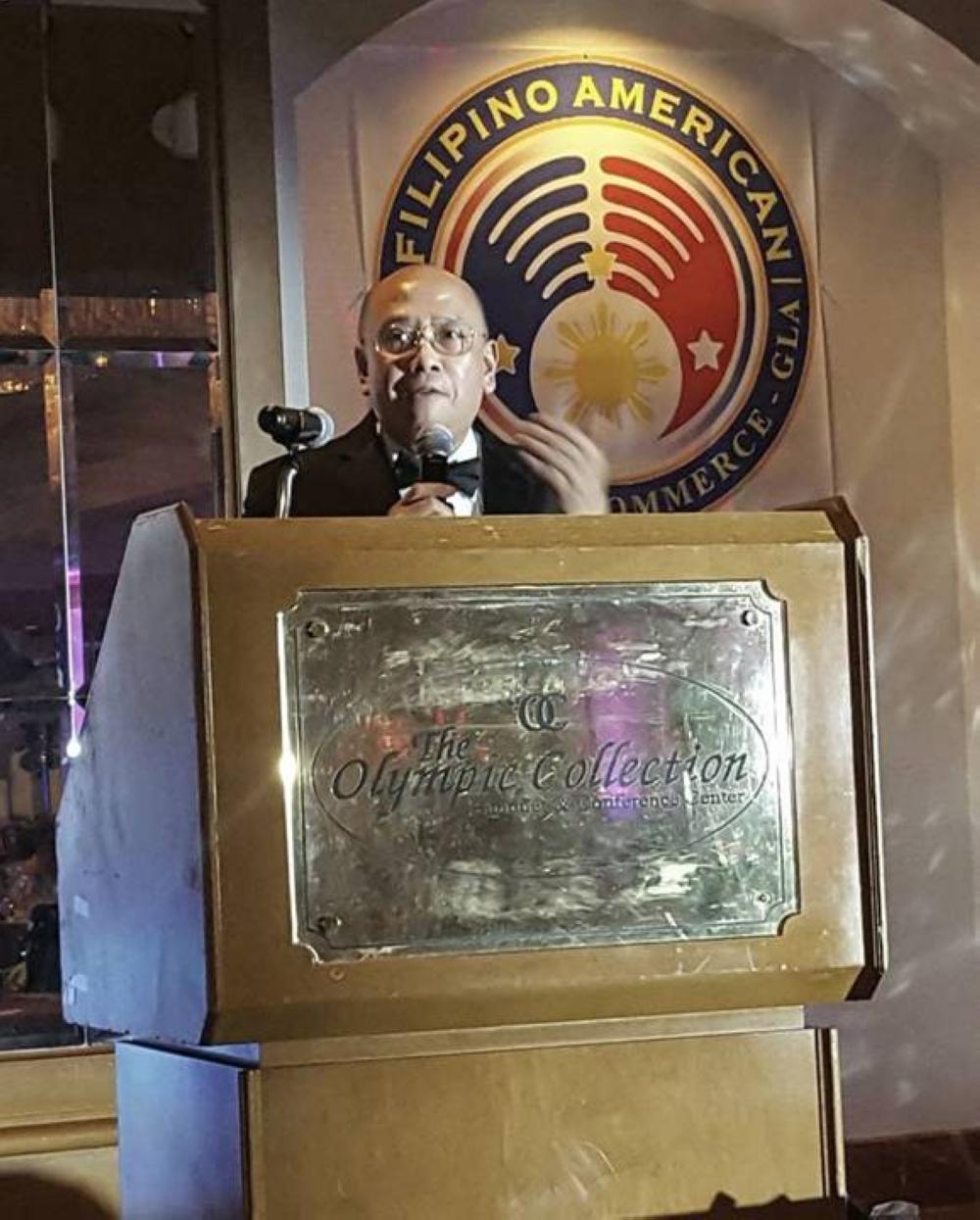 Mr. Palon during the FACC-GLA Gala Night in 2018
