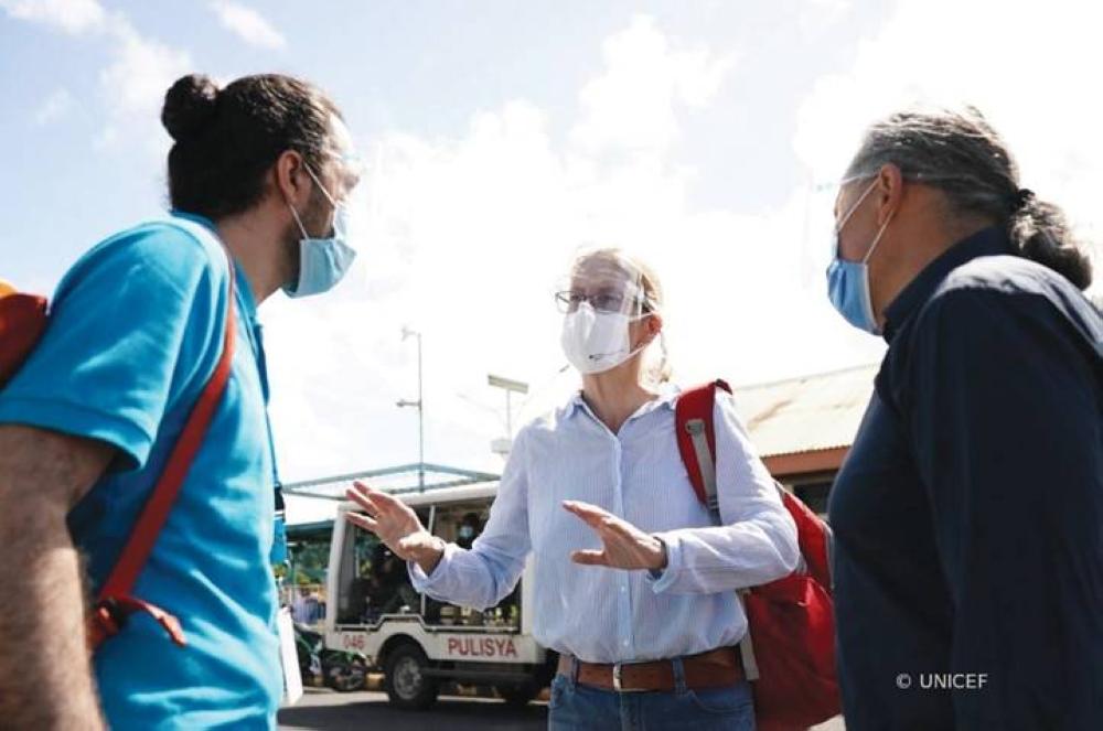 German Ambassador Reiffenstuel in Albay after Typhoon Rolly