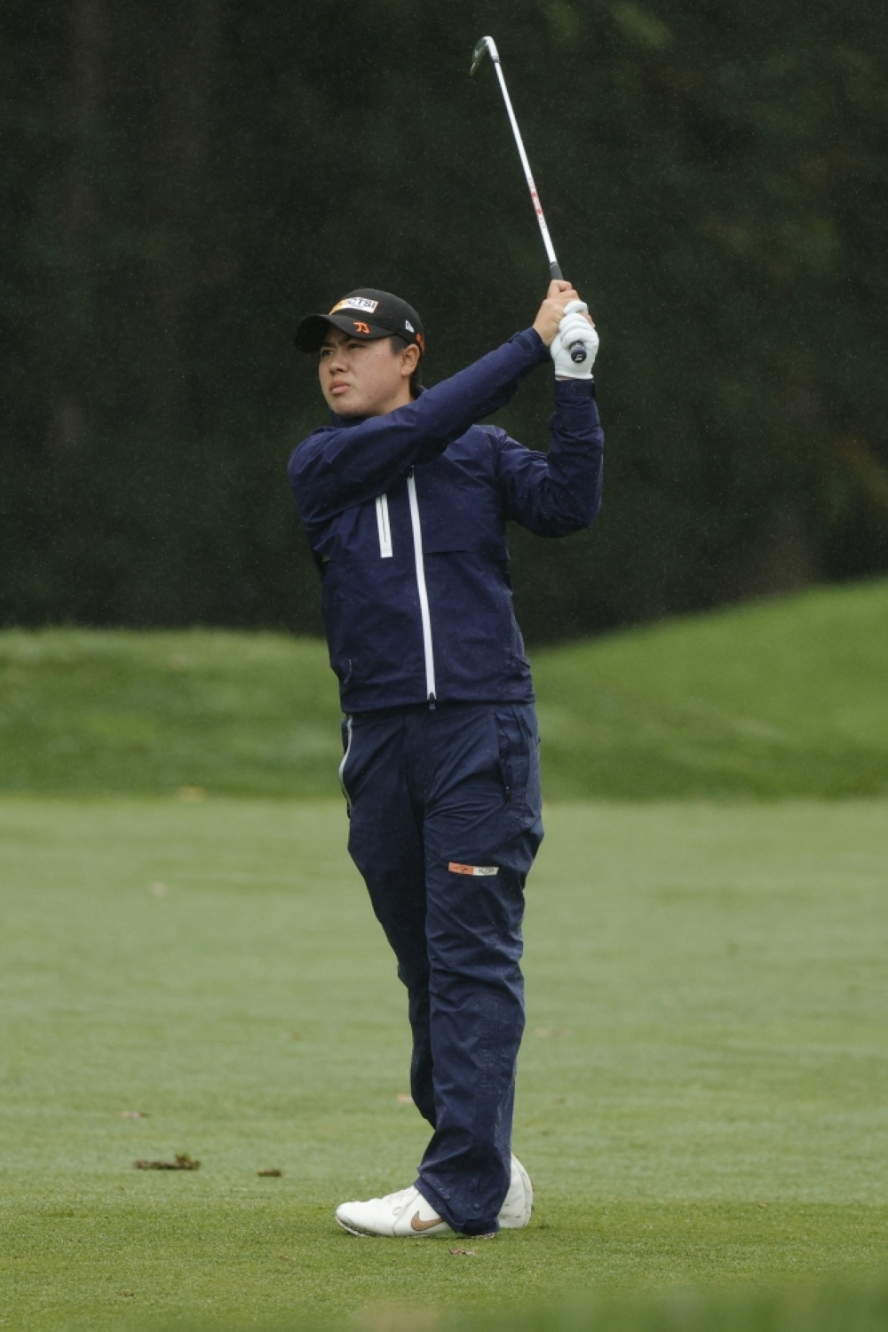 RISING STAR Yuka Saso of the Philippines hits her fairway shot on the 14th hole during the final round of the Cognizant Founders Cup at Mountain Ridge Country Club on Monday in West Caldwell, New Jersey. AFP FILE PHOTO