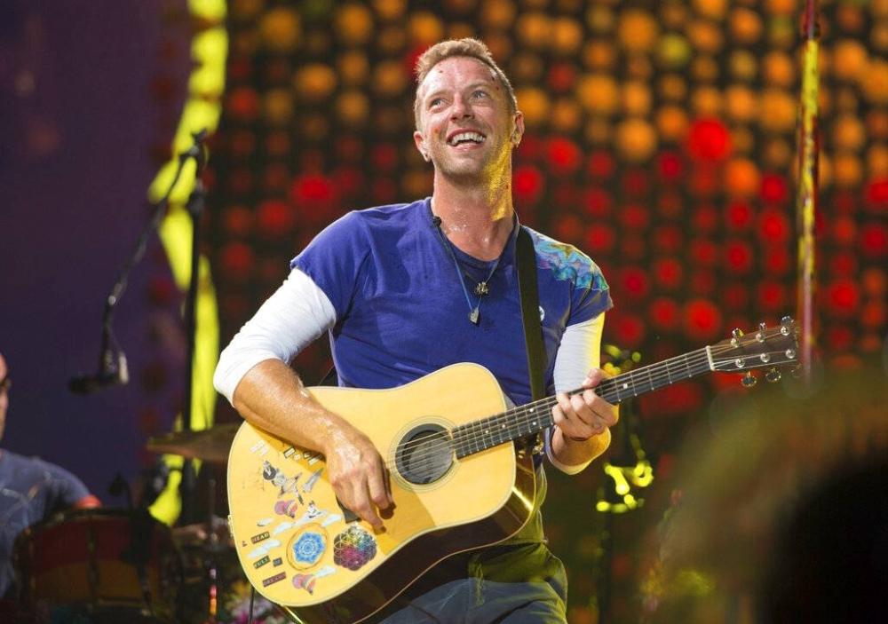 Chris Martin of Coldplay AP PHOTO