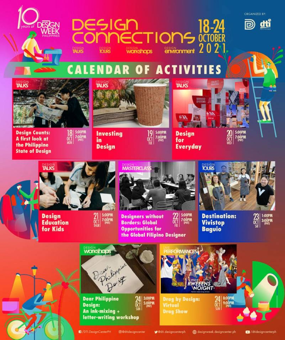 Celebrating ten years of uplifting Filipino design, creativity and community this October with 'Design Connections' CONTRIBUTED IMAGE