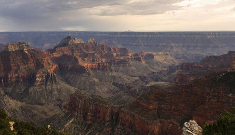 Photo taken Aug. 10, 2019 shows a view of the Grand Canyon in Arizona, the United States. The Grand Canyon, a steep-sided canyon carved by the Colorado River, is known for its visually overwhelming size and its colorful landscape. XINHUA PHOTO