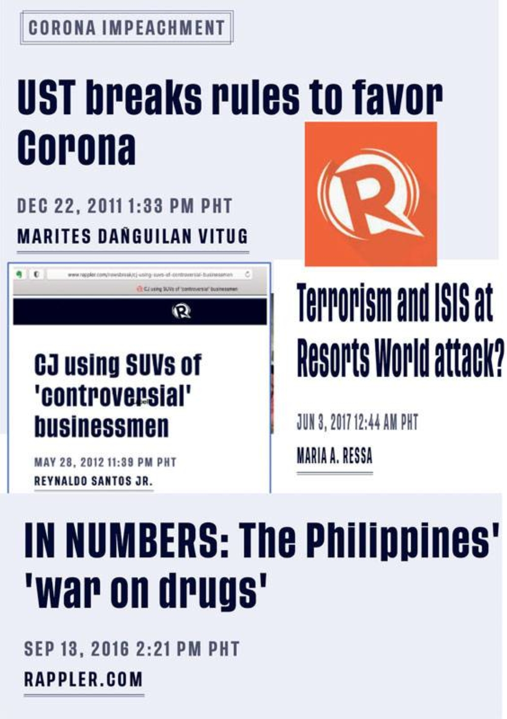 Some of Rappler's proof of its incompetence, political bias. SCREEN CRAPTURE