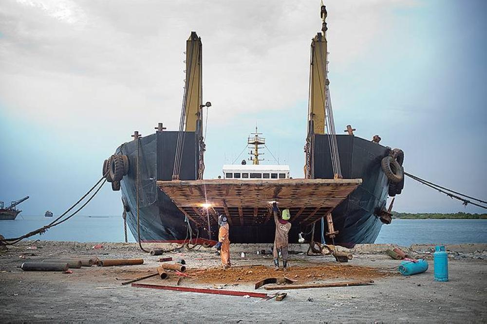 A shipyard in Carmen, Cebu